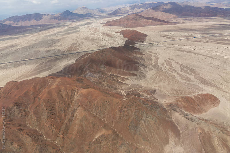 Barren hills in Nazca Peru seen from air plane by Ben Ryan for Stocksy United