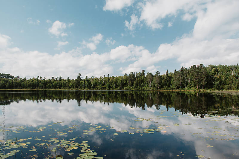 Lake reflection in Minnesota by Justin Mullet for Stocksy United