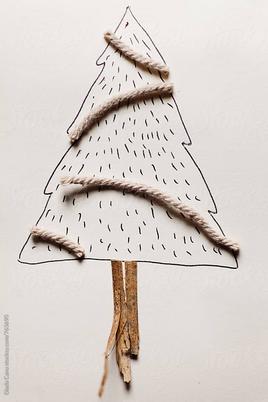 A sketch of a Christmas tree by Giada Canu for Stocksy United