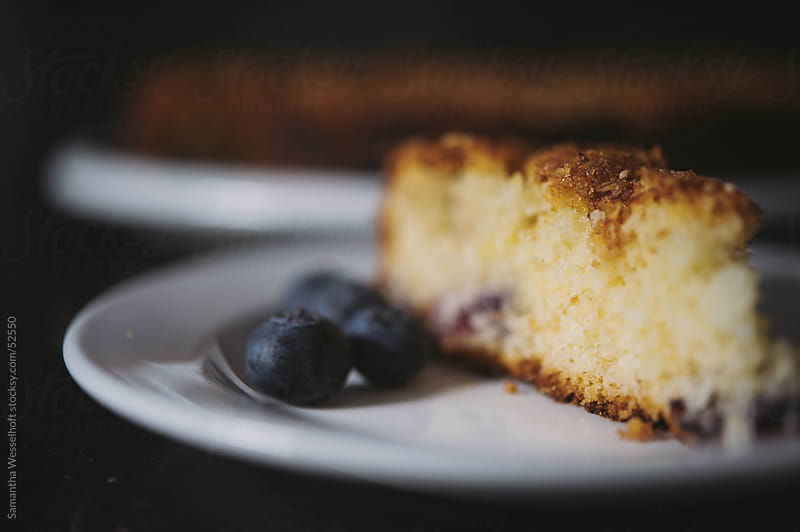 blueberry coffee cake by Samantha Wesselhoft for Stocksy United