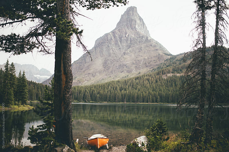 Swiftcurrent Lake  by Dylan Furst for Stocksy United