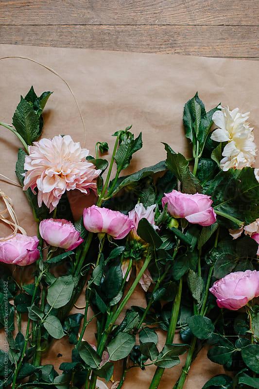 Bunch of garden roses & delilahs by Kristen Curette Hines for Stocksy United