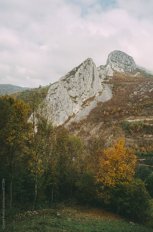 Mountain landscape in autumn by Cosma Andrei for Stocksy United