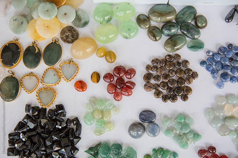 Gemstones on White by Diane Durongpisitkul for Stocksy United