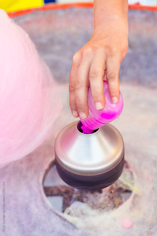 Spinning cotton candy by Pixel Stories for Stocksy United