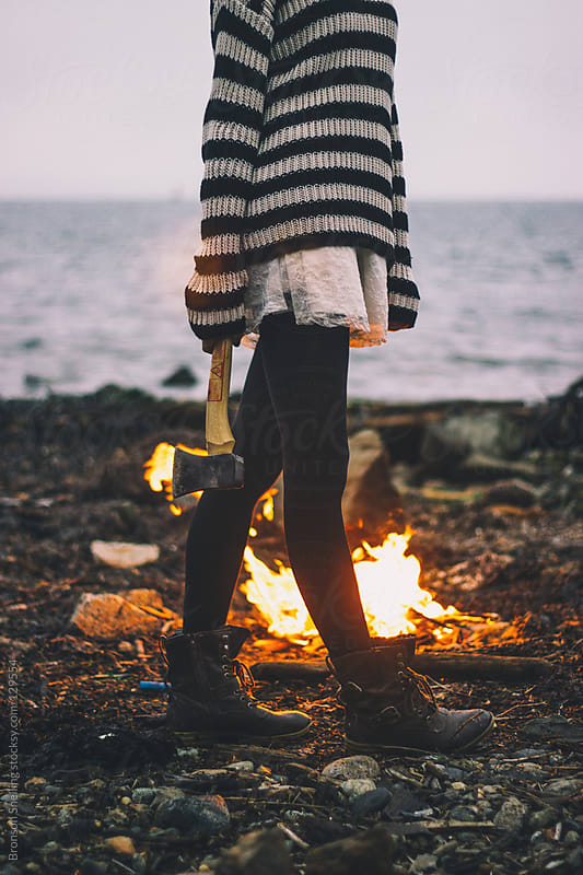 Hatchet & Fire by Bronson Snelling for Stocksy United