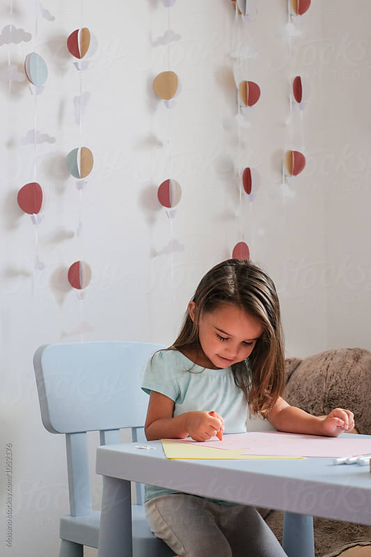 Little Girl Drawing by Mosuno for Stocksy United
