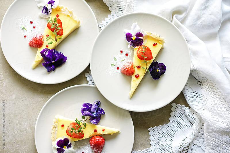 Summer dessert. Citrus tart. by Darren Muir for Stocksy United