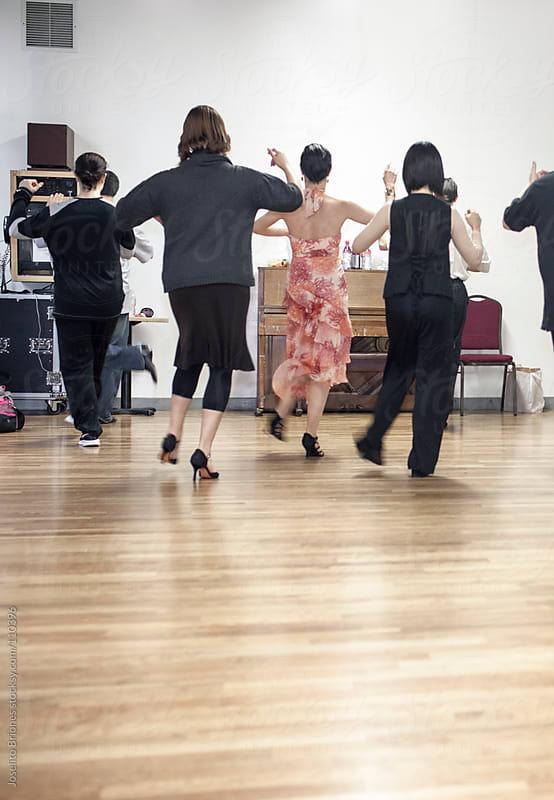 Tango Lessons in a Dance Studio by Joselito Briones for Stocksy United