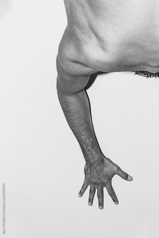 hand,body,abstract,space,white by Igor Madjinca for Stocksy United