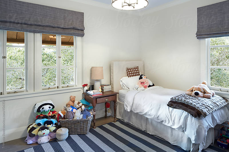Child's bedroom in luxury custom built home in California  by Trinette Reed for Stocksy United