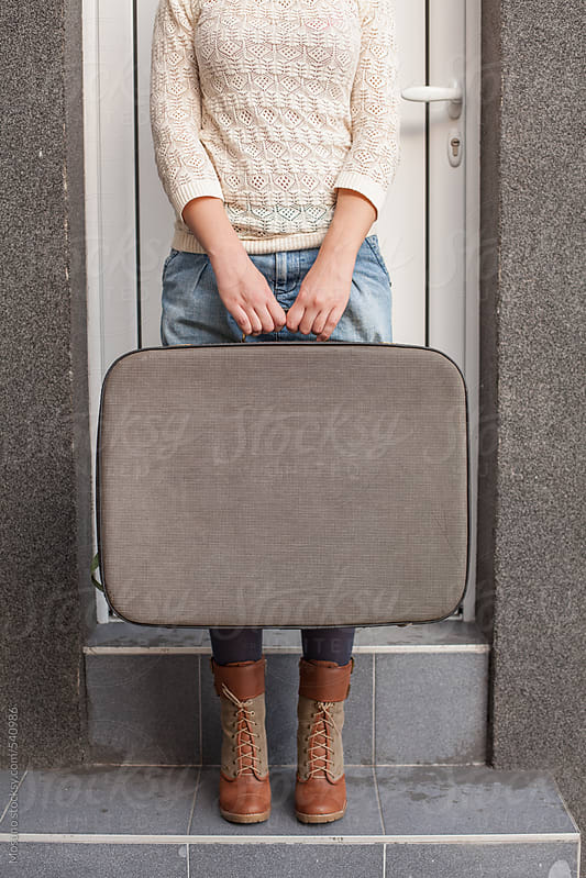 Anonymous Woman With Suitcase by Mosuno for Stocksy United