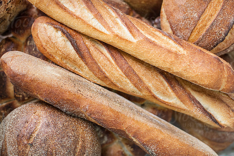 Pile of Fresh Baguette by Mosuno for Stocksy United