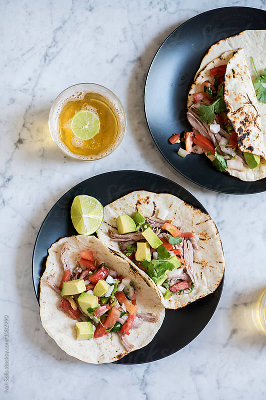 Carnitas tacos  by Ivan Solis for Stocksy United