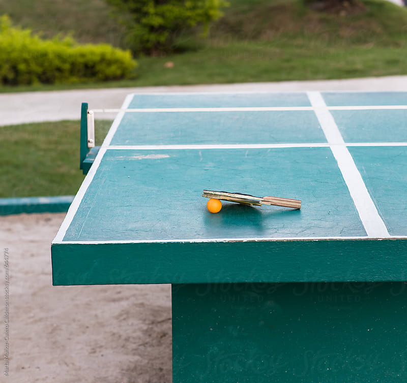 Ping pong table at a resort by Marta Muñoz-Calero Calderon for Stocksy United