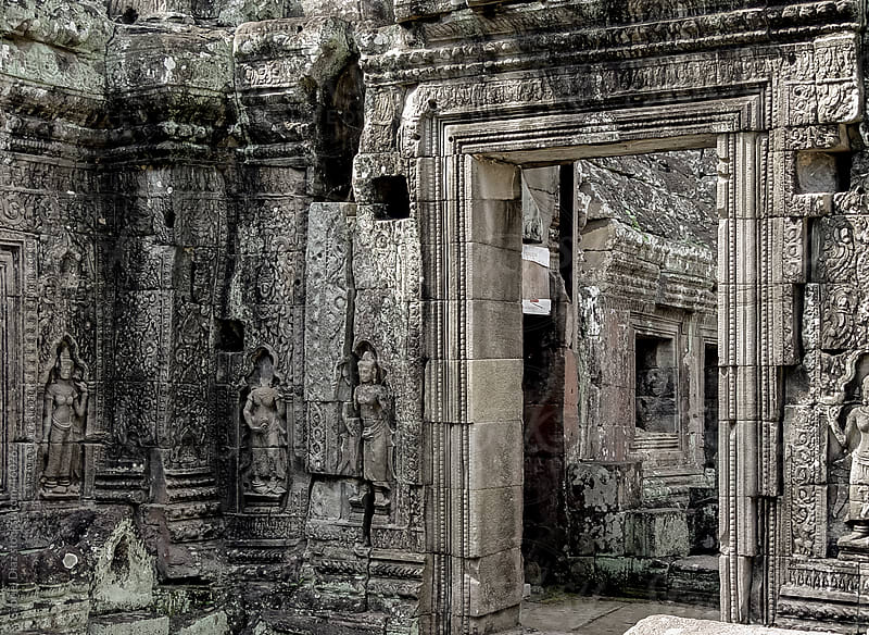 Angkor Wat Temple Complex. Side Entrance by Gabriel Diaz for Stocksy United