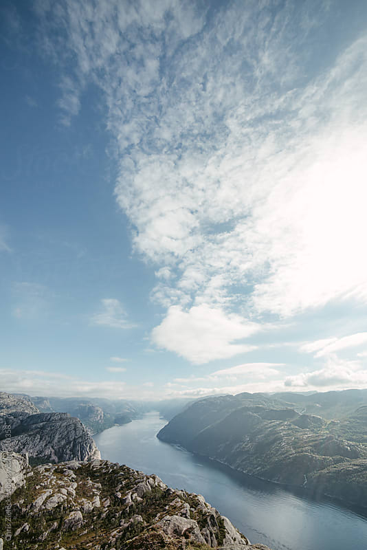 a fjord winding to the horizon by Christian Zielecki for Stocksy United