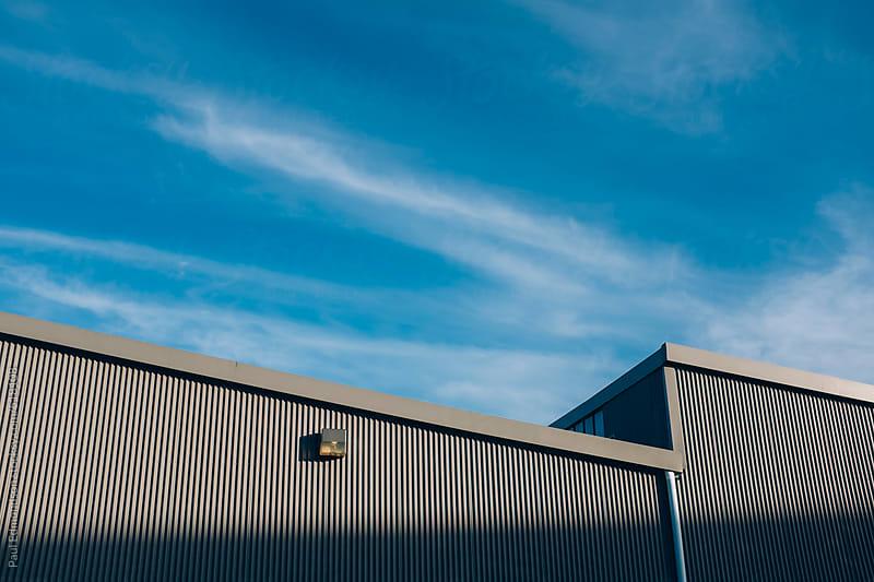 Exterior of modern warehouse building by Paul Edmondson for Stocksy United