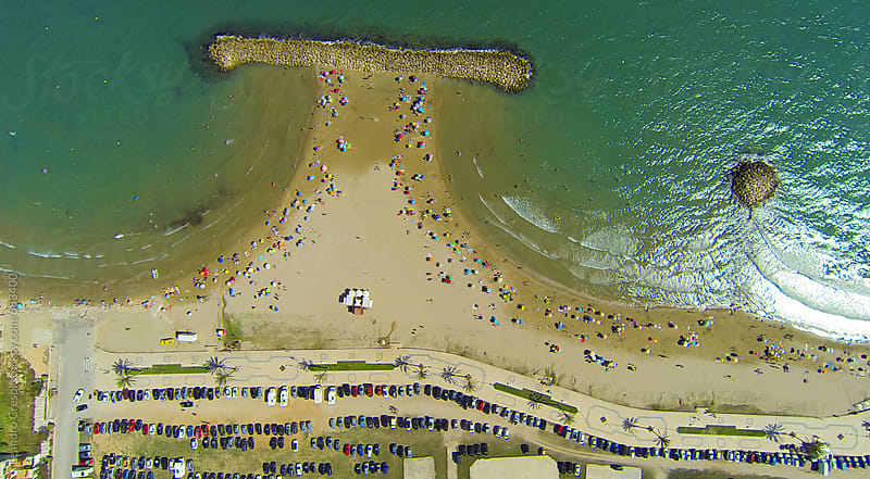Aerial view of a beautiful mediterranean beach by Leandro Crespi for Stocksy United