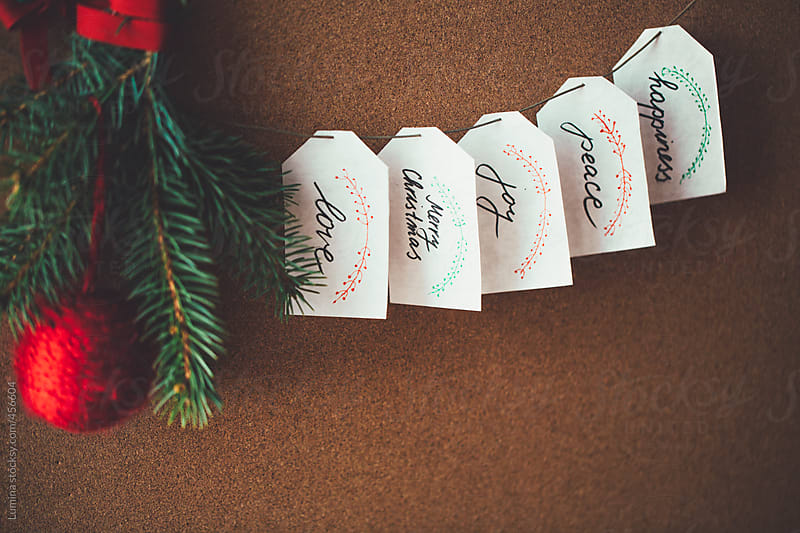 Christmas Paper Tags  by Lumina for Stocksy United