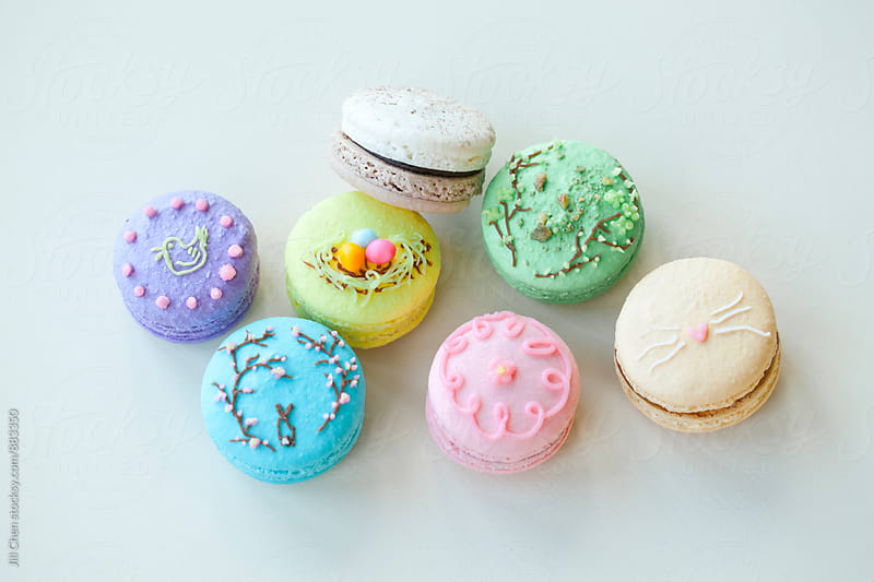 Easter Macarons by Jill Chen for Stocksy United