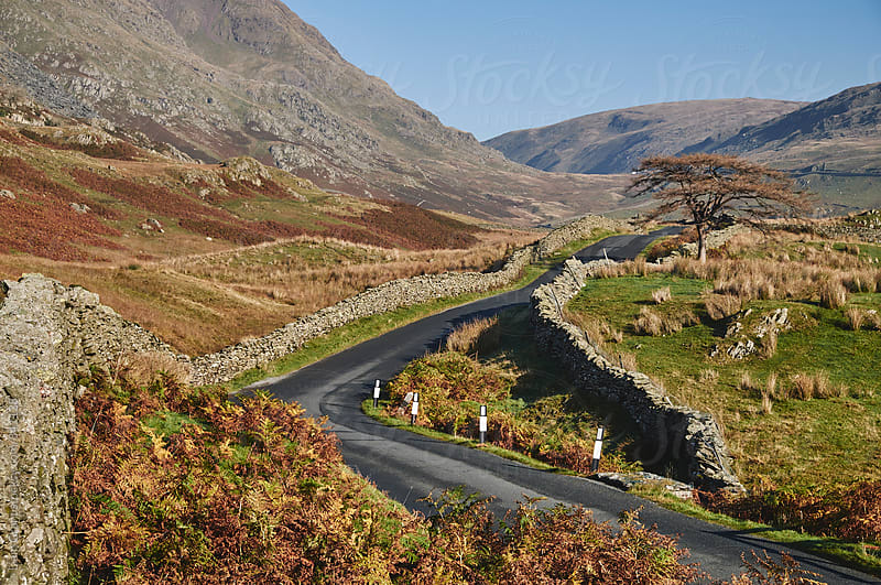 Mountain road to Kirkstone Pass. Cumbria, UK. by Liam Grant for Stocksy United