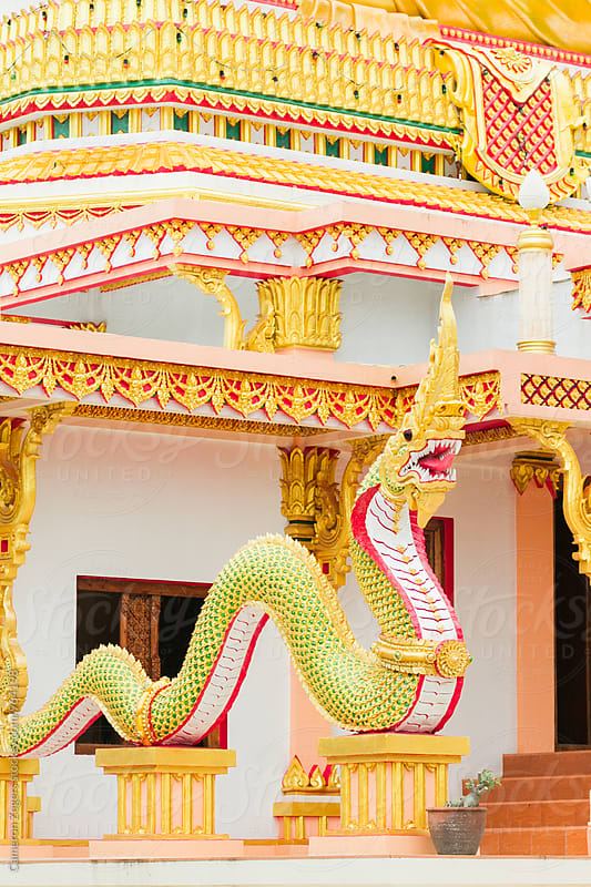 buddhist temple in Thailand by Cameron Zegers for Stocksy United