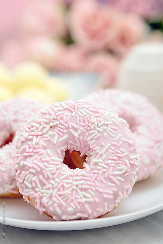 Pink donuts. by kkgas for Stocksy United