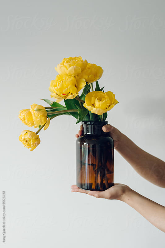 Yellow Peonies by Hung Quach for Stocksy United