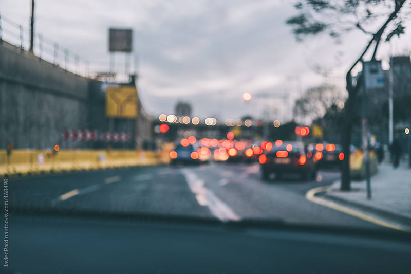 barcelona streets blurred by Javier Pardina for Stocksy United