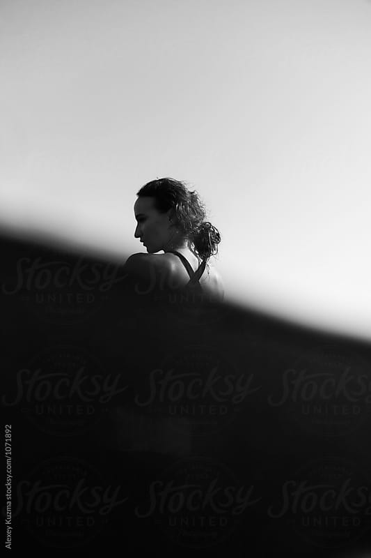 young woman in the water by Vesna for Stocksy United
