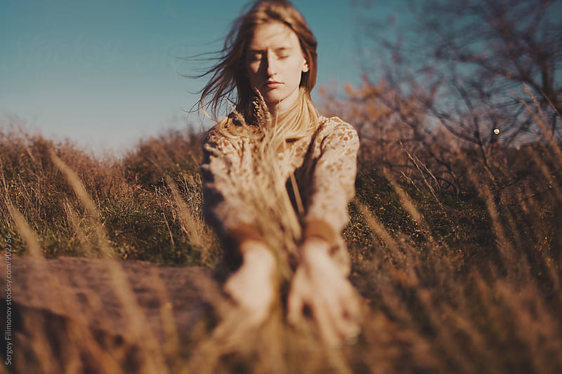 Autumn portrait of beauty woman by Sergey Filimonov for Stocksy United