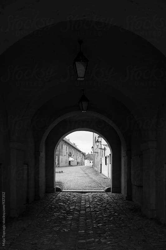 A tunnel to the old town by Maja Topcagic for Stocksy United