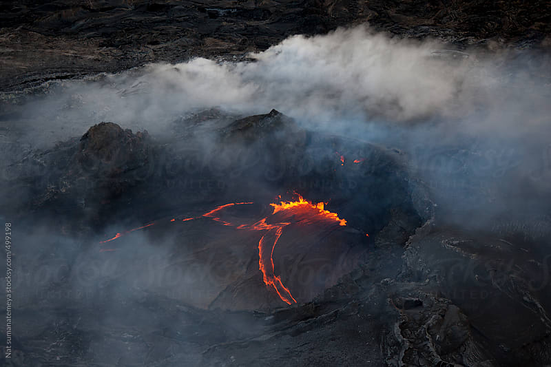 Volcano in Hawaii by Nat sumanatemeya for Stocksy United