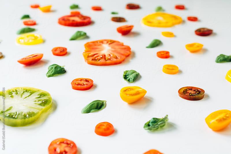 Tomato slice collage by Gabriel (Gabi) Bucataru for Stocksy United