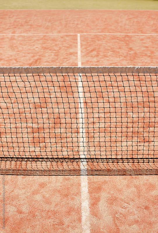 Tennis court detail with net by Bratislav Nadezdic for Stocksy United