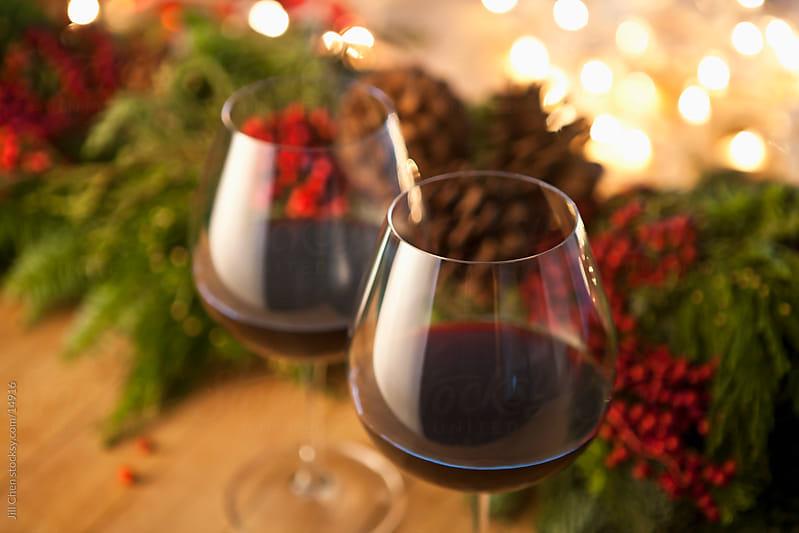 Festive Red Wine by Jill Chen for Stocksy United