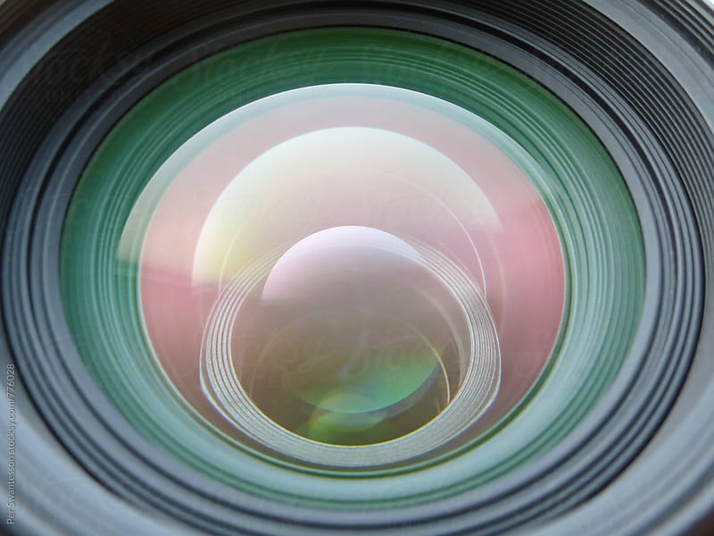 Close-up of high quality photographic prime lens by Per Swantesson for Stocksy United