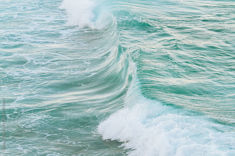 ocean wave at Bondi Beach, Australia by Cameron Zegers for Stocksy United