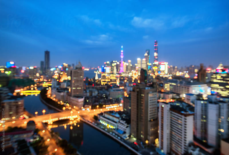 Hazy night at Shanghai by Miss Rein for Stocksy United