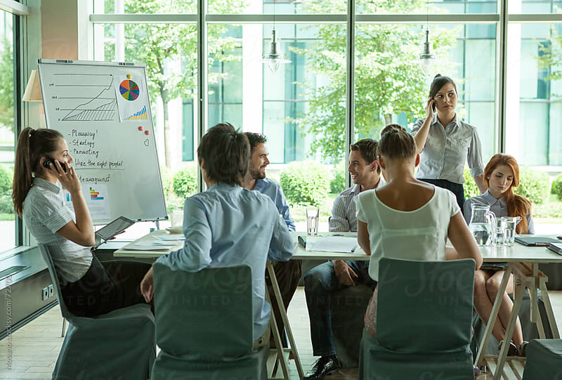 People in a Business Meeting. by Mosuno for Stocksy United