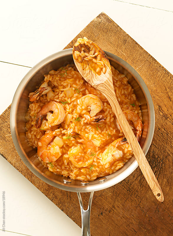 Seafood Risotto by Jill Chen for Stocksy United