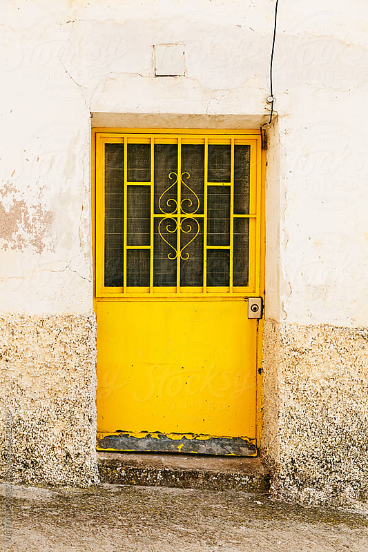 Old Yellow Iron Door from a Rural House by VICTOR TORRES for Stocksy United