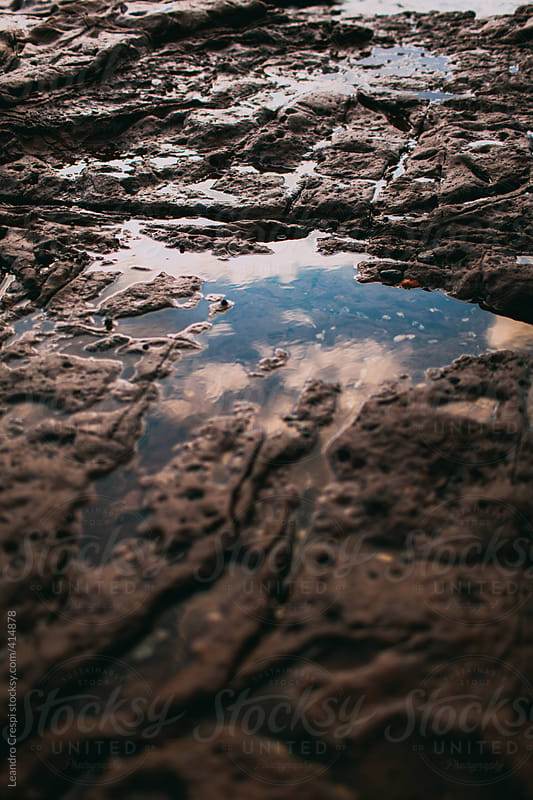 Strange rock formation water eroded by Leandro Crespi for Stocksy United