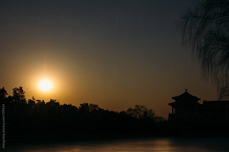 Sunset of the Forbidden City by zheng long for Stocksy United