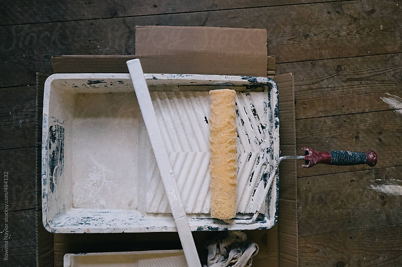 DIY Paint tray and Roller by Rowena Naylor for Stocksy United