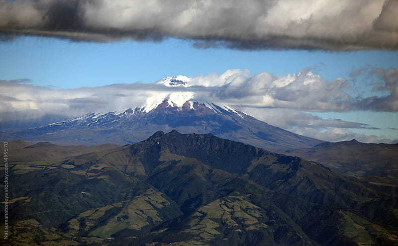 Cotopaxi mountain by Nat sumanatemeya for Stocksy United