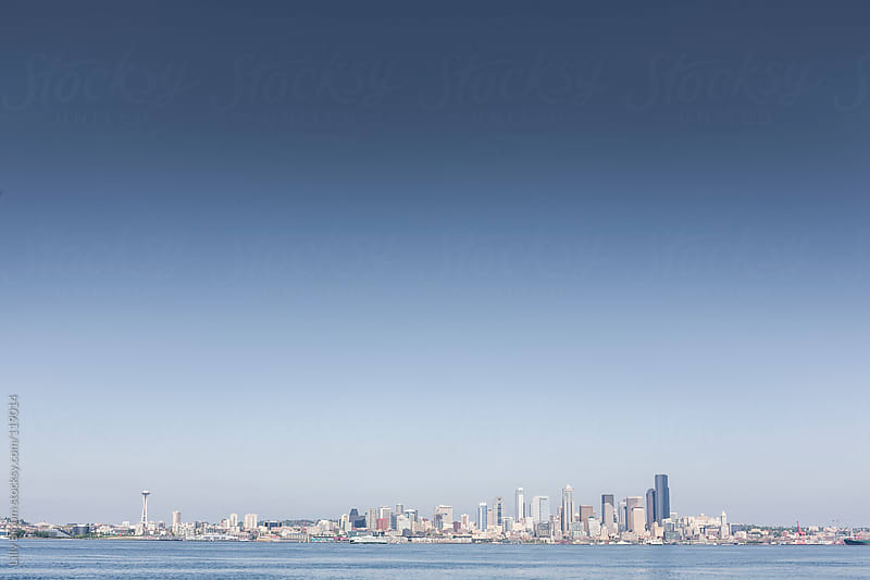 Skyline of Seattle by Lilly Bloom for Stocksy United
