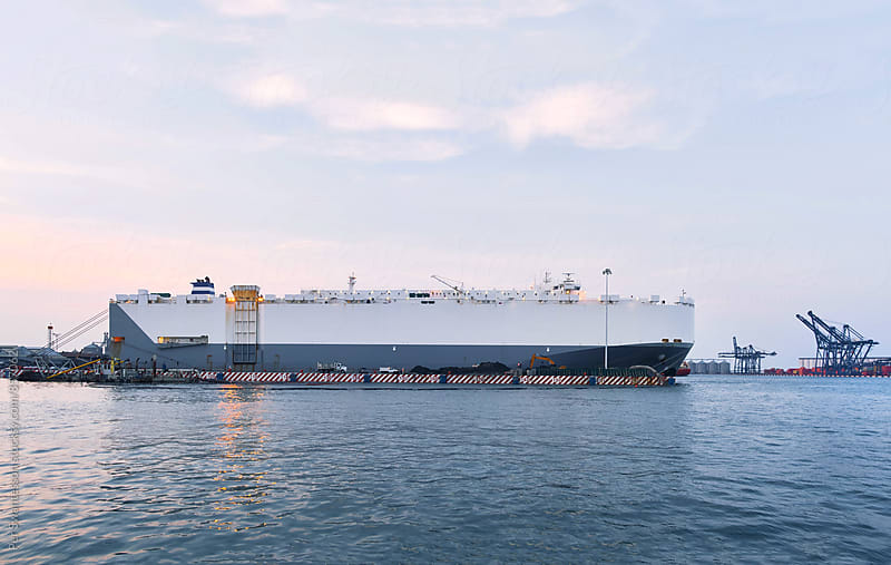 Large vehicle carrier cargo ship by Per Swantesson for Stocksy United