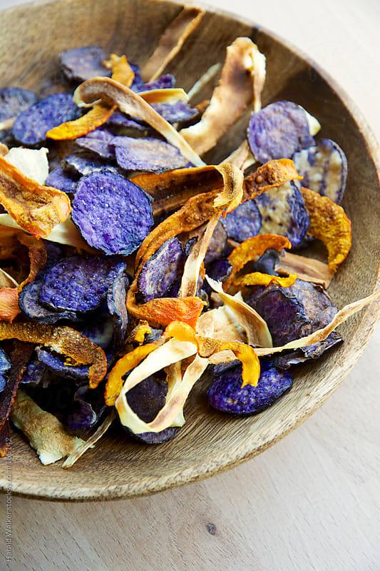 Baked Veggie Chips by Harald Walker for Stocksy United